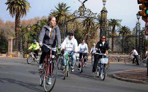 En la bici por Ciudad de Mendoza...!